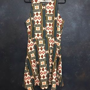 H&M Tribal Print Skater Dress